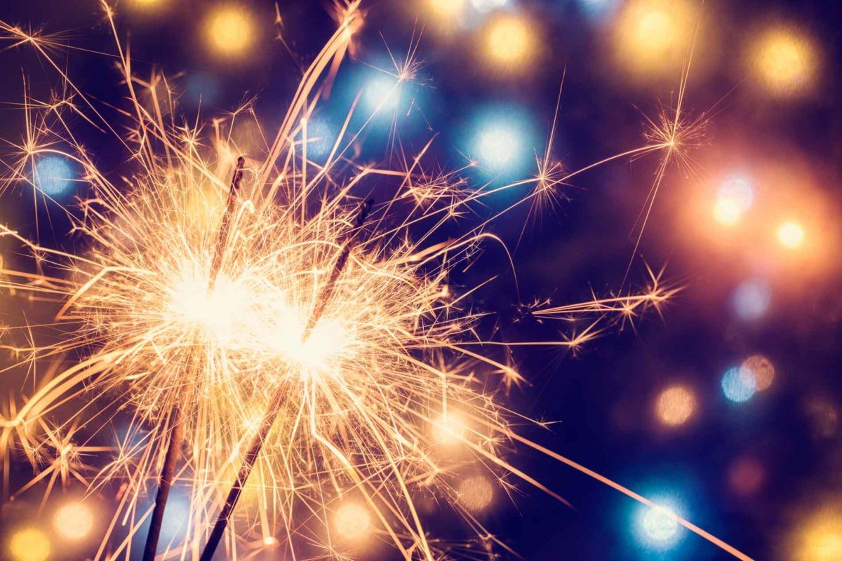 Sparklers at Foxtail Barns